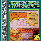 Midpoint Formula & Distance Formula Doodle Notes