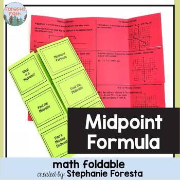 Midpoint Formula Foldable