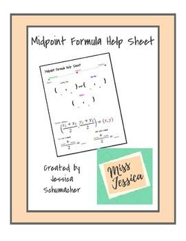 Midpoint Formula Help Sheet