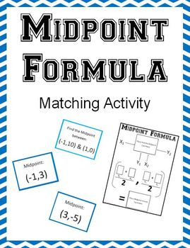 Midpoint Formula Matching Activity