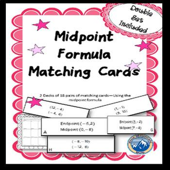Midpoint Formula Matching Card Set 2 Deck Set