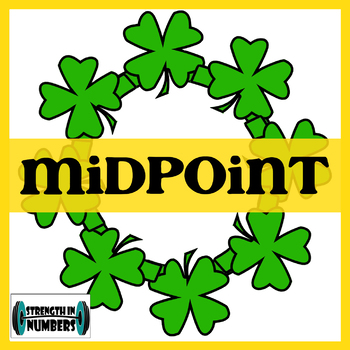 Midpoint Formula St. Patrick's Day Shamrock Self-Checking Wreath