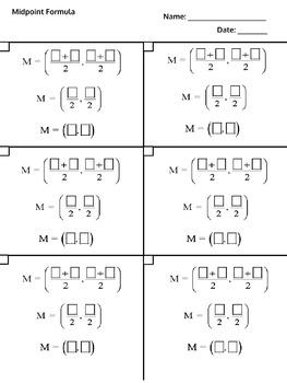 Midpoint Formula  Work Paper Flow Chart Template IEP Accom