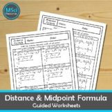 Midpoint Formula and Distance Formula Directed Math Worksh