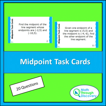 Geometry:  Midpoint Task Cards