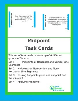 Midpoint Task Cards