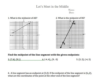 Midpoint Worksheet