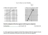 Midpoint Worksheet