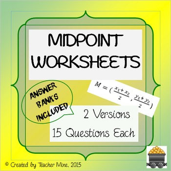 Midpoint Worksheets