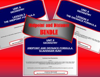Midpoint and Distance Formula Bundle (Math 1)