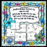 Midpoint and Distance Formulas Puzzle Set