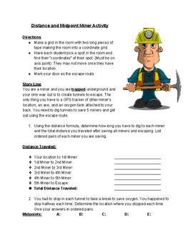 Midpoint and Distance Miner Activity