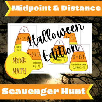 Midpoint and Distance Scavenger Hunt - Halloween Edition