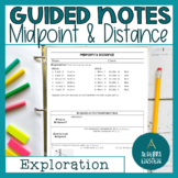 Midpoint and Distance on the Coordinate Plane BINDER notes