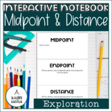 Midpoint and Distance on the Coordinate Plane Notes Foldable
