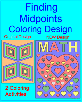 Midpoint Formula - Finding Midpoints of a Segment Coloring Activity