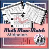 Midpoints (MATH MAZE MATCH)