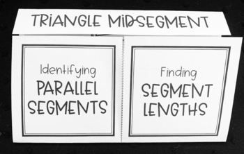 Midsegment Theorem (Geometry Foldable)