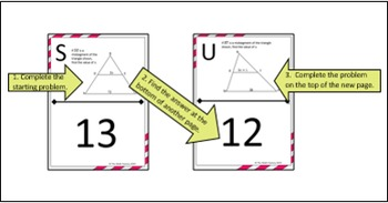 Midsegment Theorem in Triangles Scavenger Hunt Activity