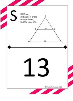 Midsegment Theorem in Triangles Scavenger Hunt Activity