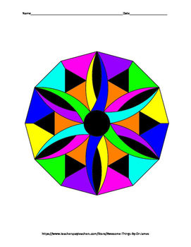 Midsegment of a Triangle Color by Number