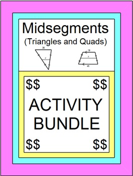 Midsegments - BUNDLE - 5 Mazes, 32 TASK Cards, Teacher Tools