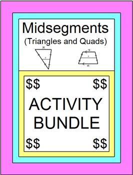 """MIDSEGMENTS BUNDLE: 2 SETS BOOM """"DIGITAL"""" TASK CARDS, 5 MAZES, 32 TASK CARDS"""