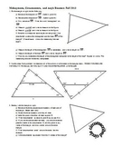 Midsegments Circumcenters and Angle Bisectors Fall 2013 (Editable)