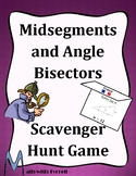 Midsegments and Angle Bisectors Scavenger Hunt Game