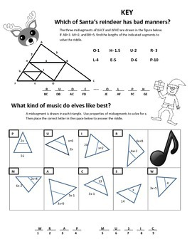Midsegments of Triangles- Reindeer Manners