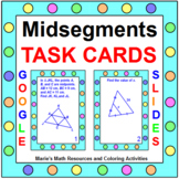 """MIDSEGMENTS OF TRIANGLES / QUADS TASK CARDS: """"GOOGLE SLIDES"""", SMARTBOARD, POWERP"""