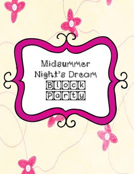 Midsummer Night's Dream Block Party Cards