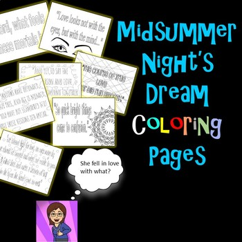 Midsummer Night's Dream Coloring Pages: Mini Posters