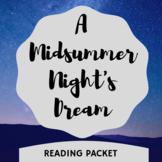 Midsummer Night's Dream Reading Sheets