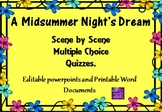 Midsummer Night's Dream Scene by Scene Multiple Choice Quizzes