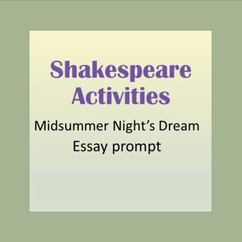 Midsummer Night's Dream Essay