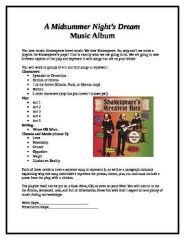Midsummer Night's Dream Music Album Project