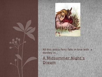 Midsummer Night's Dream PPT Act 1-3