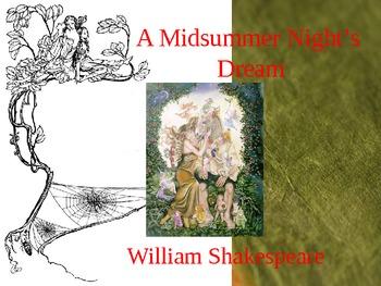 Midsummer Night's Dream Power Point PPT