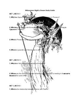 Midsummer Night's Dream Study Guide