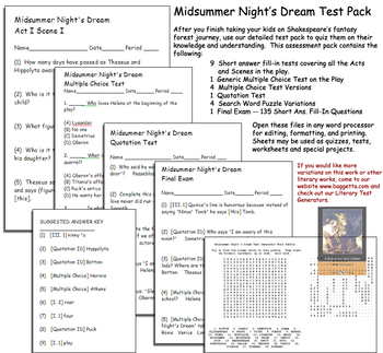 Midsummer Night's Dream Test Pack