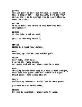 """Midsummer Night's Dream"" An Adapted, Theatre Script [Theater Scripts]"