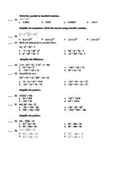 Midterm Algebra 1
