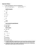 Midterm Algebra 1 Study Guide