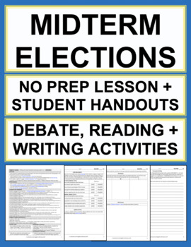 Midterm Elections English Lesson and Student Activities