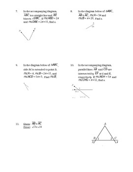Midterm Review - Angles