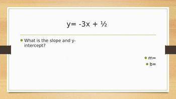 Midterm Review Pre-Algebra