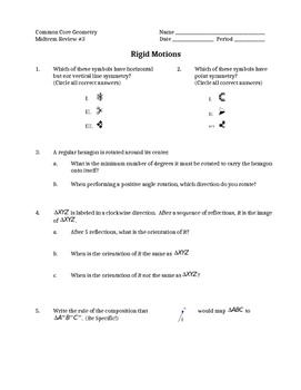 Midterm Review - Rigid Motions