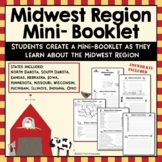 Midwest Region Unit Activity Booklet or Interactive Notebook Lesson Worksheets