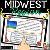 Midwest Region Boom Cards: Digital Task Cards